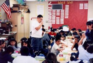 Edwin training a classroom